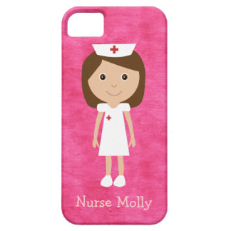 Cute Cartoon Nurse Pink iPhone 5 Case