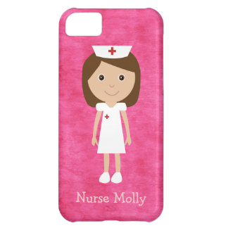 Cute Cartoon Nurse Pink iPhone 5C Case