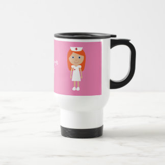 Cute Cartoon Nurse Red Hair Personalized Travel Mug