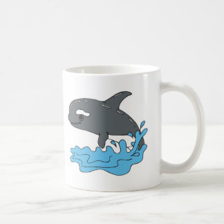 cute cartoon orca killer whale coffee mug