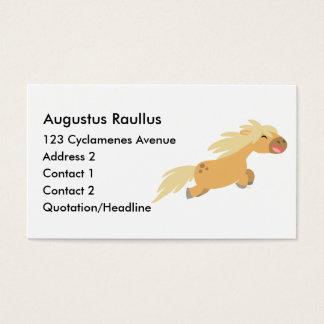 Cute Cartoon Palomino Pony business card