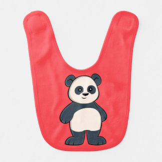 Cute Cartoon Panda Baby Bib
