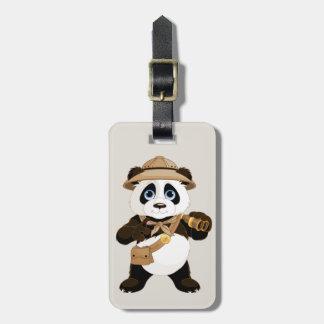 Cute cartoon Panda Bear Luggage Tag
