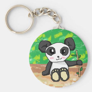cute cartoon panda key ring