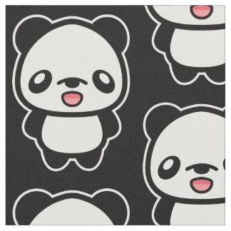 Cute Cartoon Panda Pattern Fabric