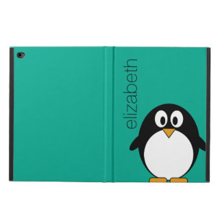 Cute Cartoon Penguin Custom Name Emerald Powis iPad Air 2 Case