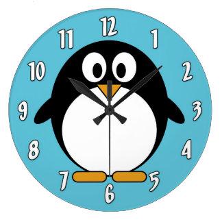 Cute Cartoon Penguin Wallclock