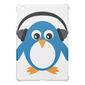 Cute Cartoon Penguin With Heads Customizable Cover For The iPad Mini