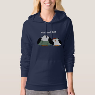 Cute Cartoon Penguins Loved Mom Hoodie