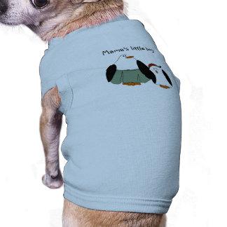 Cute Cartoon Penguins Sleeveless Dog Shirt