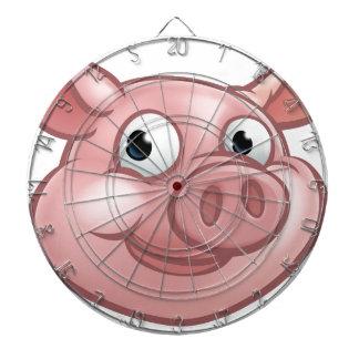 Cute Cartoon Pig Character Mascot Dartboard