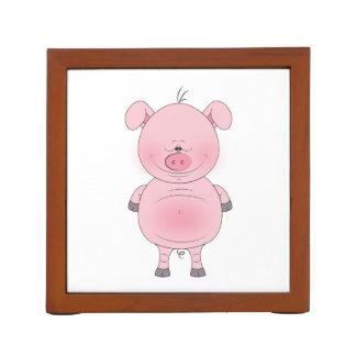 Cute Cartoon Pig Desk Organisers