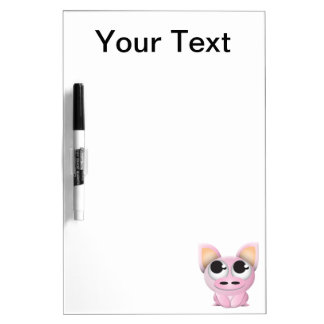 Cute Cartoon Pig Dry Erase Board
