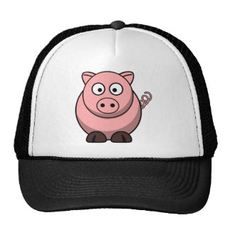 Cute Cartoon Pig Mesh Hat