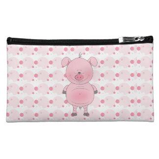Cute Cartoon Pig Makeup Bag