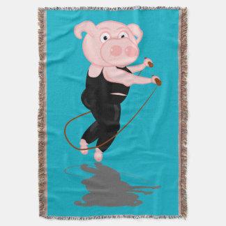 Cute Cartoon Pig Skipping