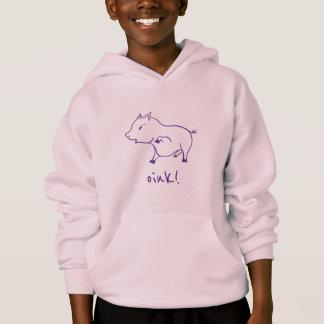 cute cartoon piggy saying oink