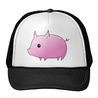 Cute Cartoon Pink Pig Mesh Hat