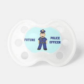 Cute Cartoon Police Officer Pacifiers