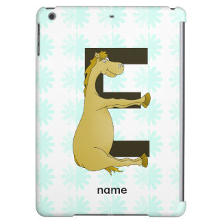 Cute Cartoon Pony Monogram E