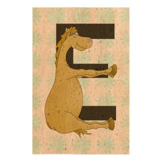 Cute Cartoon Pony Monogram E Queork Photo Prints