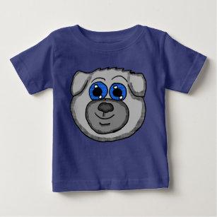 Cute Cartoon Pug Head Baby T-Shirt