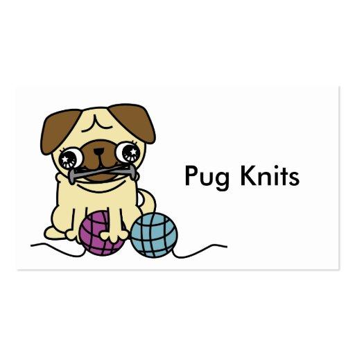 Cartoon Knitting Images : Cute cartoon pug knit knitting business card zazzle