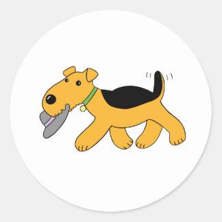 Cute Cartoon Puppy Dog with Hat Sticker Set