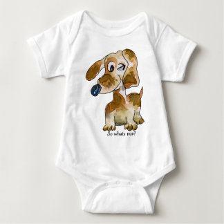 Cute Cartoon Puppy Dogs Baby Baby Bodysuit