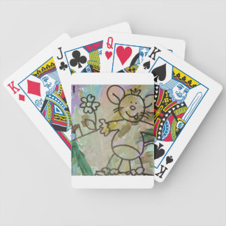 Cute Cartoon Rats Bicycle Playing Cards
