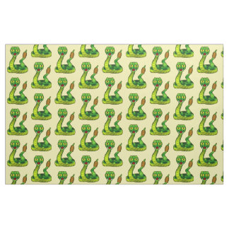 Cute Cartoon Rattlesnake Fabric