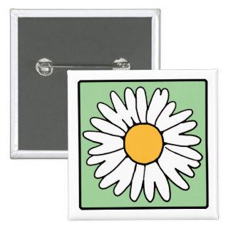 Cute Cartoon Retro Daisy Spring Garden Flower Button