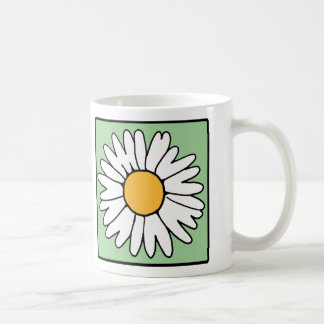 Cute Cartoon Retro Daisy Spring Garden Flower Coffee Mugs