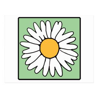 Cute Cartoon Retro Daisy Spring Garden Flower Postcard