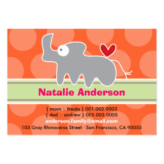 Cute Cartoon Rhino Kid Photo Profile Calling Card Business Card