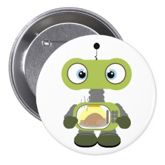 cute cartoon robot button