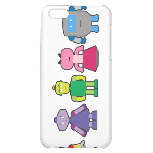 Cute Cartoon Robots Cover For iPhone 5C