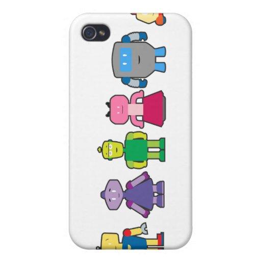 Cute Cartoon Robots iPhone 4 Covers