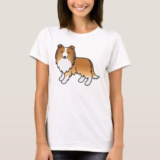 Cute Cartoon Sable Shetland Sheepdog T-Shirt