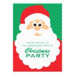 Cute Cartoon Santa Christmas Party Custom Invites