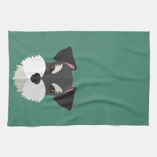 Cute Cartoon Schnauzer! Tea Towel