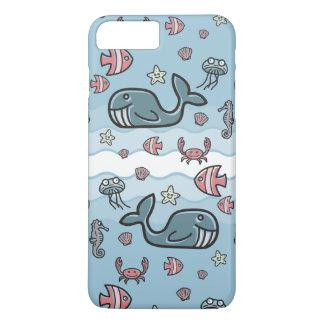 Cute Cartoon Sea Creatures Pattern iPhone 7 Plus Case