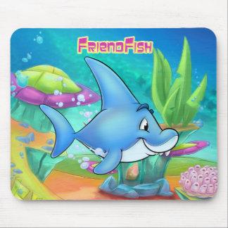 Cute cartoon shark mouse pad