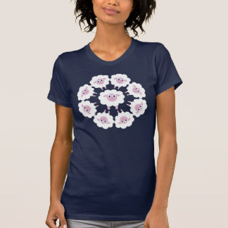 Cute Cartoon Sheep Circular Design T-Shirt