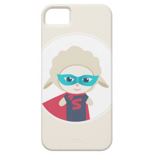 Cute cartoon sheep Super Hero iPhone 5 Case