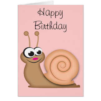 Cute Cartoon Snail Card