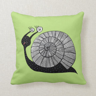 Cute Cartoon Snail With Spiral Eyes Cushion
