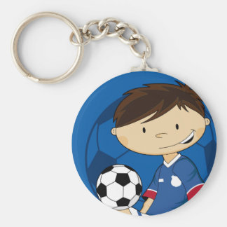 Cute Cartoon Soccer Football Boy Key Chain