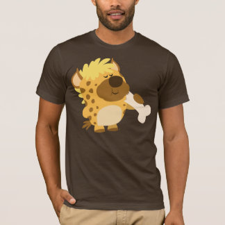 Cute Cartoon Spotted Hyena Crushing a Bone T-Shirt