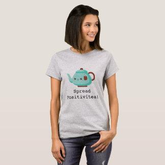 Cute cartoon 'spread positivitea' tea T-Shirt